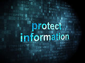 Privacy concept: Protect Information on digital background — Foto de Stock