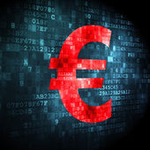 Currency concept: Euro on digital background — Foto de Stock