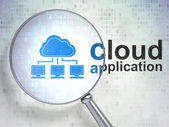 Cloud technology concept: Cloud Network and Cloud Application — Stock Photo