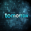 Time concept: Tomorrow on digital background — Foto de Stock