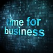 Time concept: Time for Business on digital background — Foto de Stock