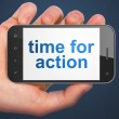 Time concept: Time for Action on smartphone — Stockfoto