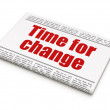 Time news concept: newspaper headline Time for Change — Foto de Stock
