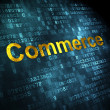 Business concept: Commerce on digital background — Stockfoto #34175457