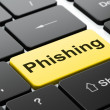 Security concept: Phishing on computer keyboard background — Stockfoto