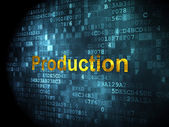 Finance concept: Production on digital background — Stock Photo