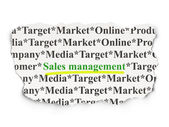 Advertising concept: Sales Management on Paper background — Stockfoto