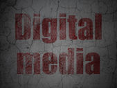 Advertising concept: Digital Media on grunge wall background — Stock Photo