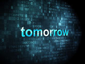 Time concept: Tomorrow on digital background — Stock Photo