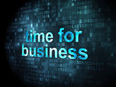 Time concept: Time for Business on digital background — Stock Photo