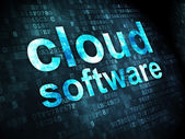 Cloud networking concept: Cloud Software on digital background — Stock Photo