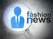 News concept: Business Man and Fashion News with optical glass — Stock Photo