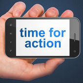 Time concept: Time for Action on smartphone — Stock Photo