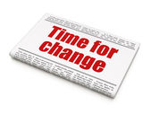Time news concept: newspaper headline Time for Change — Stockfoto