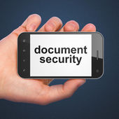 Protection concept: Document Security on smartphone — Stock Photo