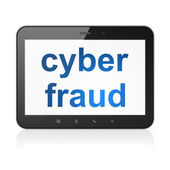 Security concept: Cyber Fraud on tablet pc computer — Stockfoto