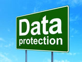 Pojęcie prywatności: ochrony danych na drodze tło znak — Zdjęcie stockowe