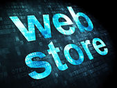 SEO web design concept: Web Store on digital background — Stock Photo