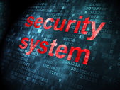 Security concept: Security System on digital background — Foto de Stock