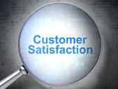 Advertising concept: Customer Satisfaction with optical glass — Foto de Stock