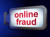 Security concept: Online Fraud on billboard background — Stock Photo