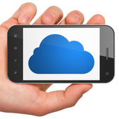 Cloud networking concept: Cloud on smartphone — Stock Photo
