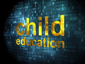 Education concept: Child Education on digital background — Stock Photo