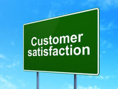 Advertising concept: Customer Satisfaction on road sign background — Stock Photo