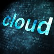 Cloud computing concept: Cloud on digital background — ストック写真