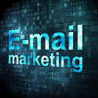 Advertising concept: E-mail Marketing on digital background — Stock fotografie