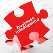 Finance concept: Business Intelligence on puzzle background — Foto Stock