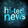 News concept: Hi-tech News on digital background — Stock Photo