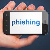 Schutzkonzept: Phishing auf Smartphone — Stockfoto