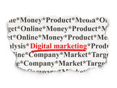 Advertising concept: Digital Marketing on Paper background — Foto Stock
