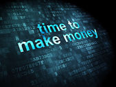 Timeline concept: Time to Make money on digital background — Stock Photo