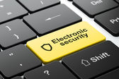 Protection concept: Shield and Electronic Security on keyboard — Stock Photo