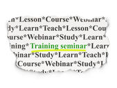 Education concept: Training Seminar on Paper background — Stock Photo
