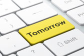 Time concept: Tomorrow on computer keyboard background — Foto Stock