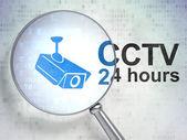 プライバシーの概念: cctv カメラと防犯 24 時間 — ストック写真