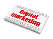 Advertising news concept: newspaper headline Digital Marketing — Stock Photo