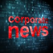 News concept: Corporate News on digital background — Stock Photo
