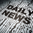 News concept: circuit board with Daily News — Stockfoto