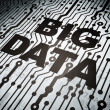 Stock Photo: Datconcept: circuit board with Big Data