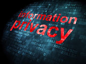 Safety concept: Information Privacy on digital background — Stock Photo