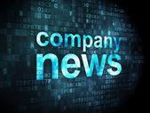 Neuigkeiten-Konzept: Unternehmensnews auf digitale Hintergrund — Stockfoto