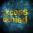 Stock Photo: Safety concept: Access Denied on digital background