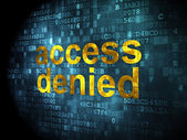 Safety concept: Access Denied on digital background — Foto Stock