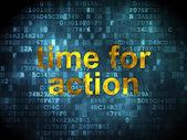 Timeline concept: Time for Action on digital background — Stok fotoğraf