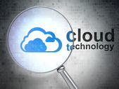 Cloud technology concept: Cloud and Cloud Technology — Stock Photo
