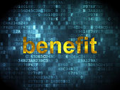 Business concept: Benefit on digital background — Stock Photo